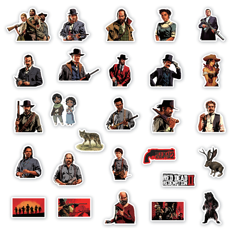 Wilderness Characters Pvc Vinyl Waterproof Luggage Stickers Cartoon Laptop Sticker