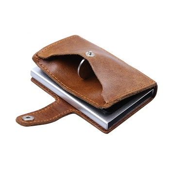best selling christmas gifts metal multifunction automatic pop-up RFID wallet credit card holder for men