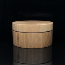 200g/200ml full bamboo jar/bamboo <strong>container</strong> for cosmetic with bamboo lid with aluminum inner