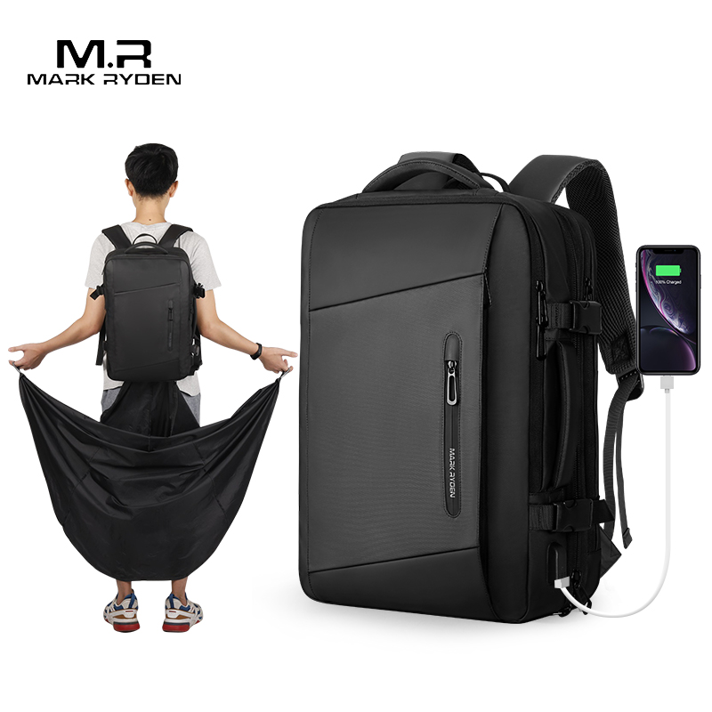 mark ryden raincoat laptop backpack with usb charging port <strong>bag</strong> men