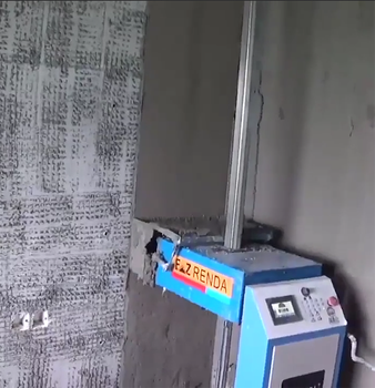 70KGS Touch screen control Best Price Automatic Wall Plaster Cement Mortar Rendering Machine For Sale