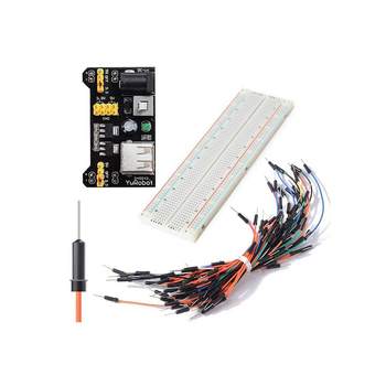 Free Shipping 830 Breadboard Power Supply MB-102 65 Jumper Wire Kit For Arduino