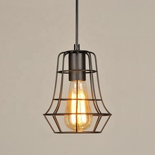 Restaurant mini cage modern hanging pendant lamp zhongshan wholesale cheap industrial vintage kitchen pendant <strong>light</strong>