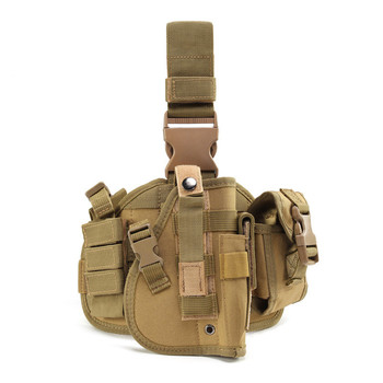 900D Waterproof Oxford Outdoor Molle Hunting Tactical Drop Leg Holster with Adjustable Belt Thigh Straps