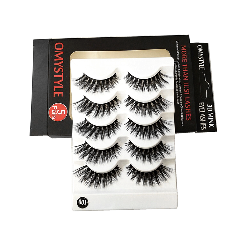 3D Faux Mink Premium Synthetic False Eyelashes Natural Volume Eye Lashes <strong>001</strong>