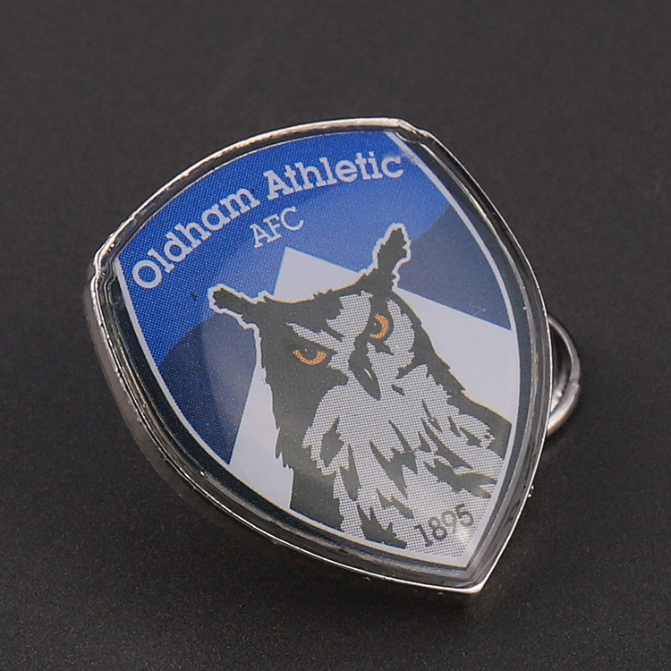 Custom print brand logo animal metal epoxy pin badges