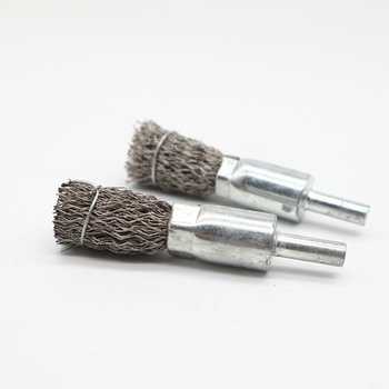 304 crimped stainless steel wire end brush