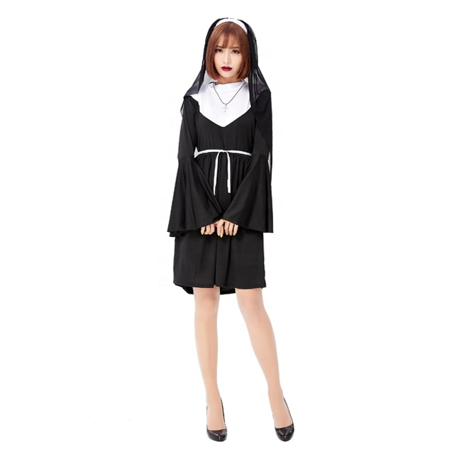 Nun Kit Headpeice Collar Ladies Fancy Dress Hen Night Religious Costume