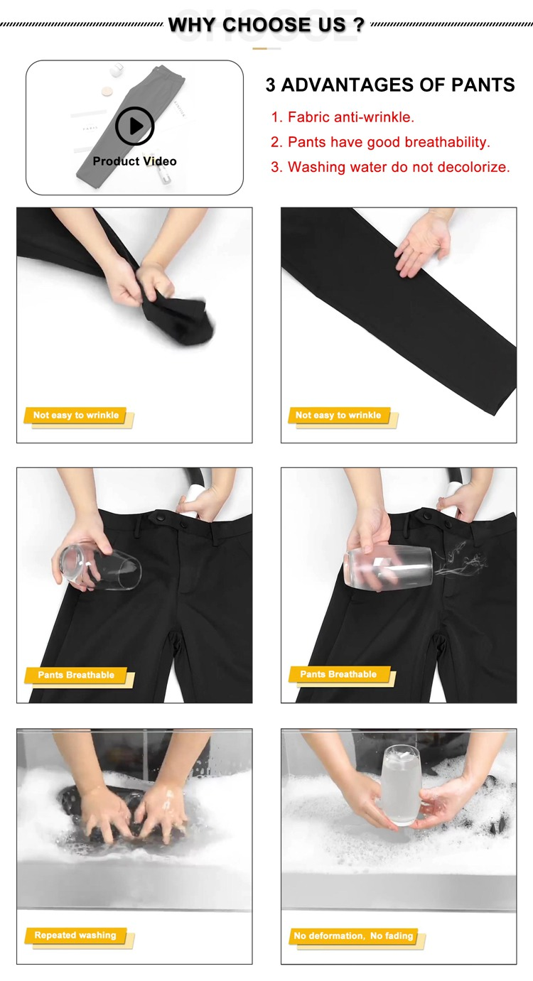 Professional Factory Custom Men'S Narrow Breathable Red Trousers