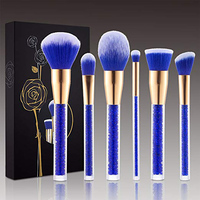 2019 luxury private label skin care 6 pcs makeup brushes