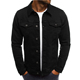 2019 New Fashion Wholesale Plain Washed Cotton Casual Black Men's Denim Jeans Jacket