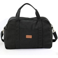 Hot selling canvas material man travel bag luggage bag low moq