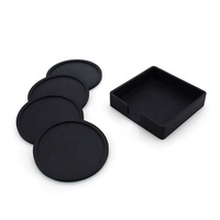 factory custom wholesale rubber soft silicone cup coaster