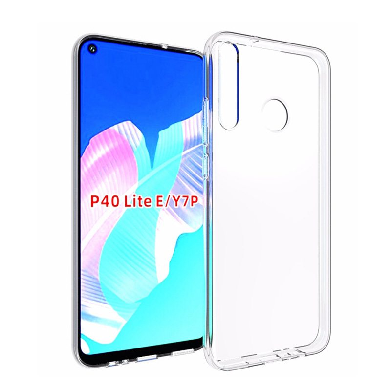 1.0mm Ultra Thin Clear Crystal Transparent TPU Soft Phone Case For Huawei P40 Lite E P40 P30 Nova 6 5T <strong>P</strong> Smart Y9 2019