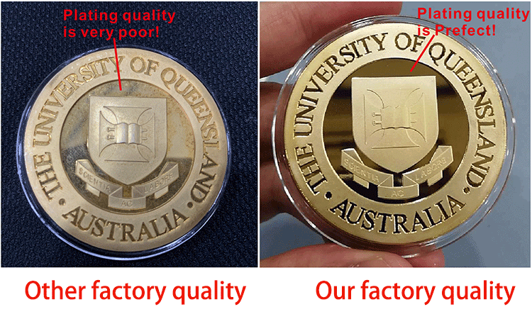 Shuanghua factory customize commemorate metal challenge souvenir coin