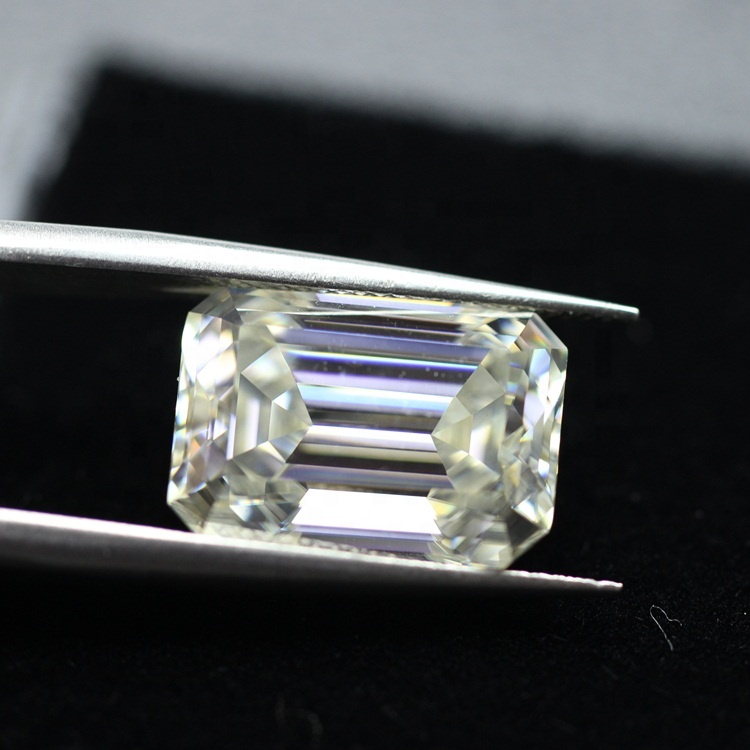 2020 Hot sale shape <strong>D</strong> color 1carat emerald cut moissanite diamond for jewelry making