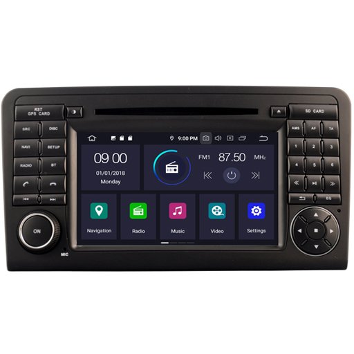 screen 7 inch car multimedia system Android 9.0 double din car video <strong>dvd</strong> car radio for Mercedes-Benz ML 320/ML 350/<strong>W164</strong>