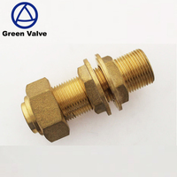 Taizhou Green Valves Hot sale brass water meter fittings hose connector