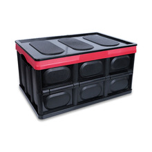 56L Easy foldable portable outdoor plastic PP material supermarket supply car suv home trip storage box