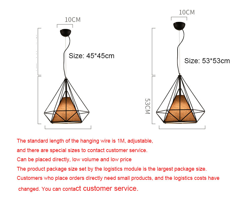Industrial style wrought iron chandelier modern minimalist cafe American country bedroom bar single head chandelier