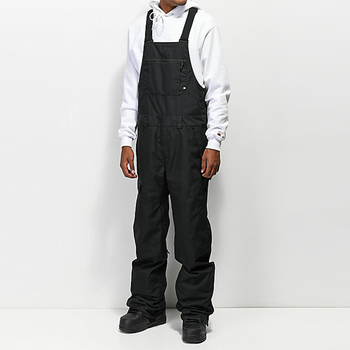 Custom high quality Nylon fabric men's ski snowboard bib pants overalls