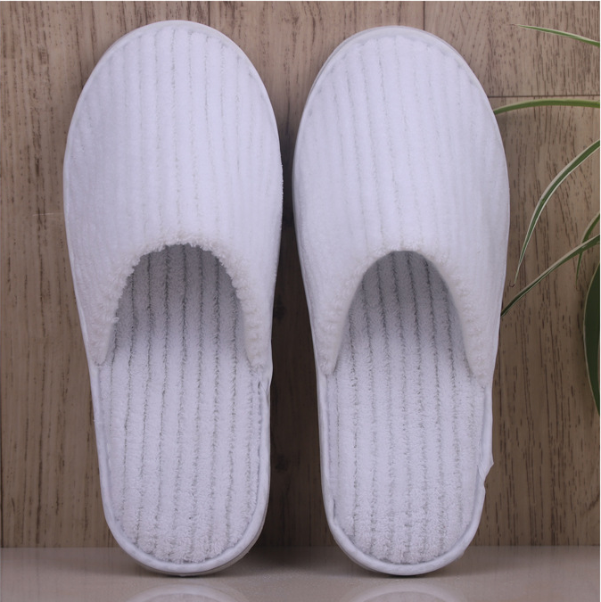 High quality linen disposable hotel slippers