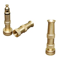 Hose <strong>Nozzle</strong> <strong>Solid</strong> Brass Adjustable Spray Patterns with Bonus High Pressure Sweeper <strong>Nozzle</strong>