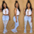 2020 Women's Jeans trousers fashionable stretch sexy bell bottom denim pantalones flare ripped jeans women