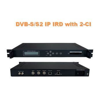 DVB-S2 CI IP IRD(DVB-S/S2+ASI in,ASI+IP(8*SPTS(multicast)/1*MPTS) out)