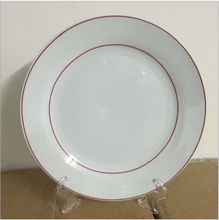 Wholesale custom hot transfer ceramic <strong>plate</strong> ornaments gold edge <strong>plate</strong> and silver edge sublimation white <strong>plate</strong>