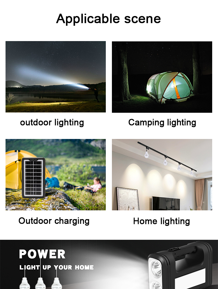 Fashion design green ABS material solar lighting system GD-12