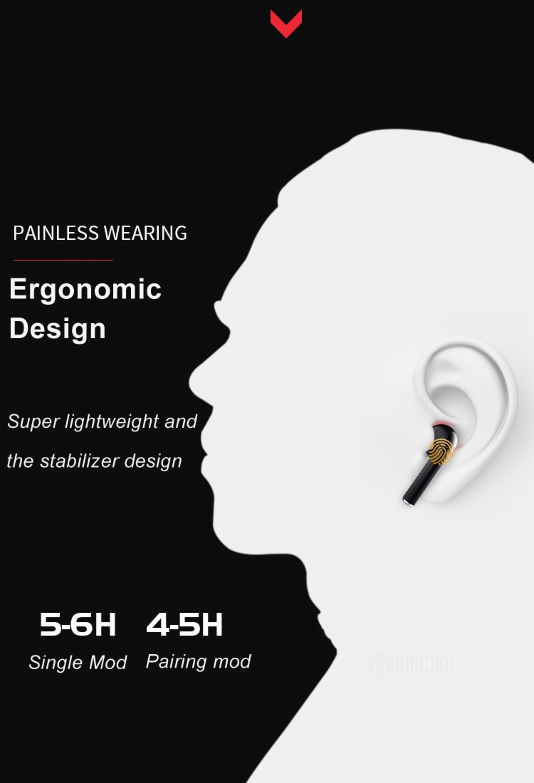 X10 TWS Wireless Earphones Fingerprint Touch Ear Pods HD Stereo Wireless Earbuds