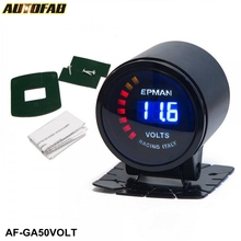 "AUTOFAB - Epman Car Motor Auto 2"" 52mm Digital Smoked 20 LED Digital Voltage Volt Meter Gauge with bracket AF-GA50VOLT"