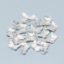 PandaHall Wholesale 925 Sterling Silver Butterfly <strong>Pendants</strong> for Jewelry