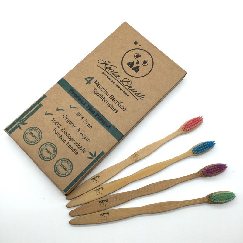 100% eco biodegradable bamboo toothbrush nylon 6
