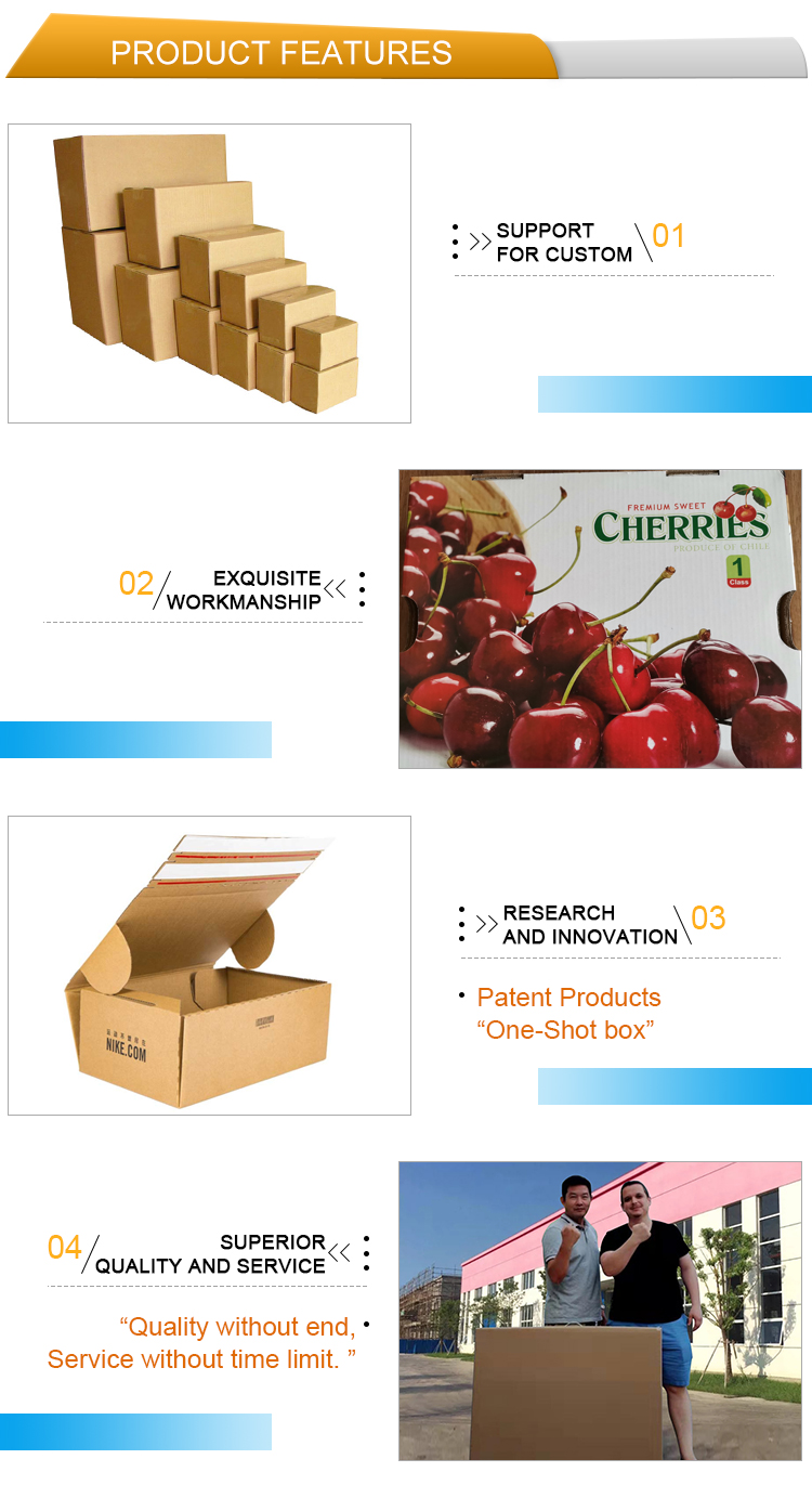 OEM Corrugated pure water bottle carton packaging boxes cardboard beverage packaging