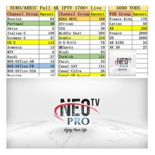 NEO PRO IPTV Europe french UK iptv <strong>12</strong> months 20+ country European France iptv arabic m3u subscription reseller panel