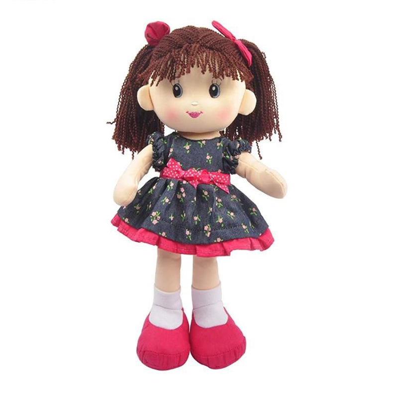 Professional custom made manufacturer soft plush toy American rag dolls cloth Baby Girl Doll