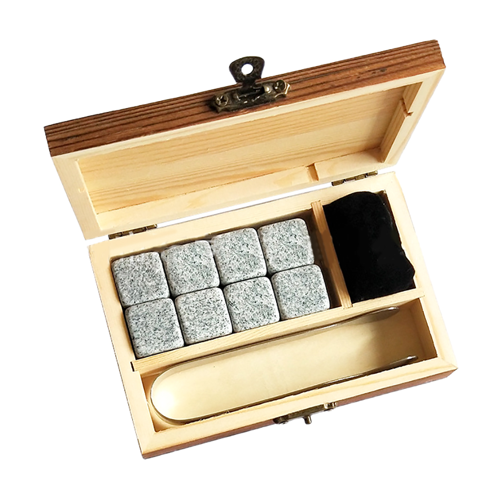 2019 amazon hot sale Bar AccessoriesWhisky Stones Ice Cubes in Wood Gift Set for cooling <strong>Wine</strong> Rouge/Beverage/Juice