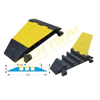 3 channel Angle of cable protection cover, cable trunking cover 20T loading
