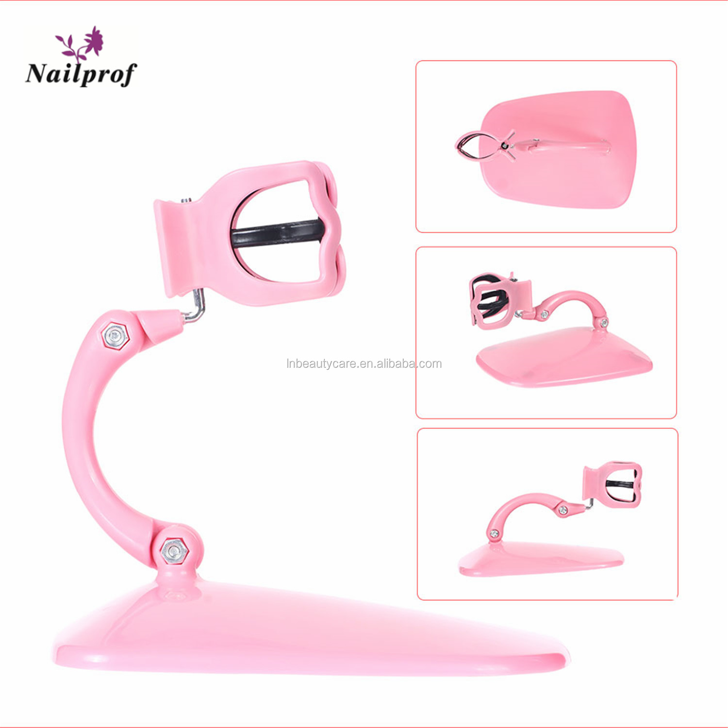 Nailprof. Adjustable Hand Free Nail Polish Bottle Holder Display Stand Tilt Acrylic Manicure Polish Supportive