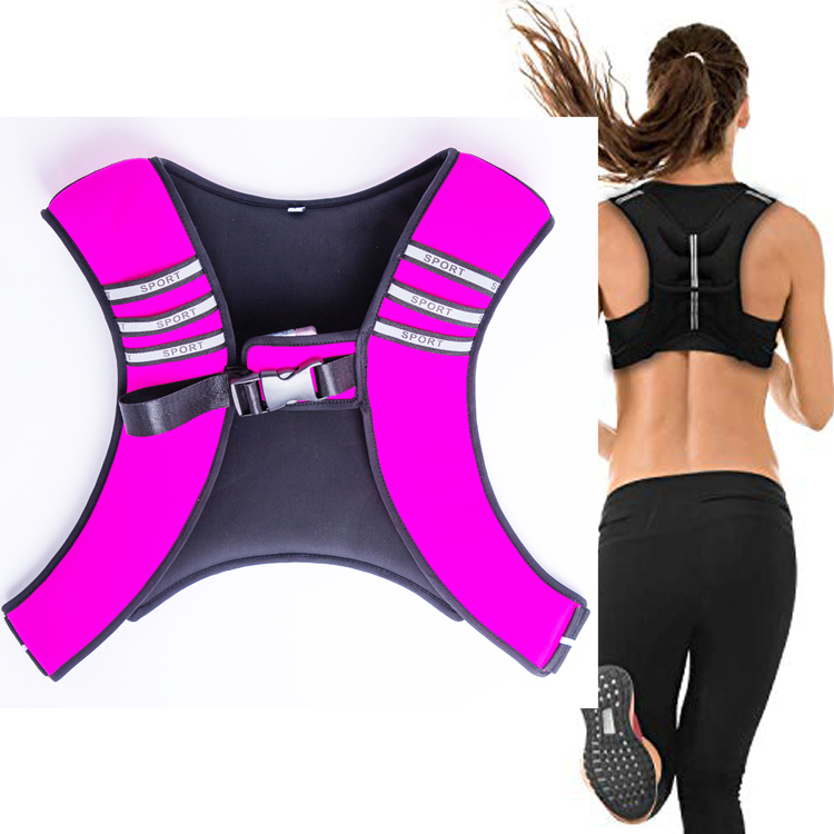 Body Building Weight Jacket Neoprene Sand Filled Weight-bearing Vest <strong>Fitness</strong> Exercise Colorful Weighted Sandbag Vest