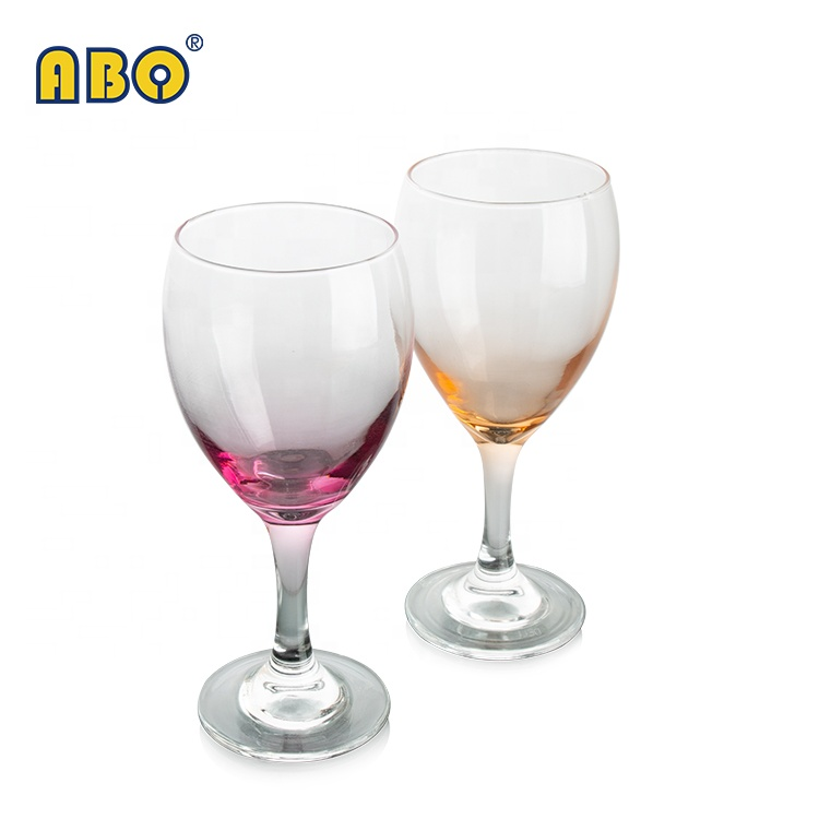 19YRS Professional Supplier Modern casual style bar party restaurant colored transparent glass wine water cup <strong>08</strong>