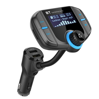 BT70 Wireless BT V4.2 5V/2.4A Output QC3.0 Protocol Quick Charge Car Bluetooth FM Transmitter for Car