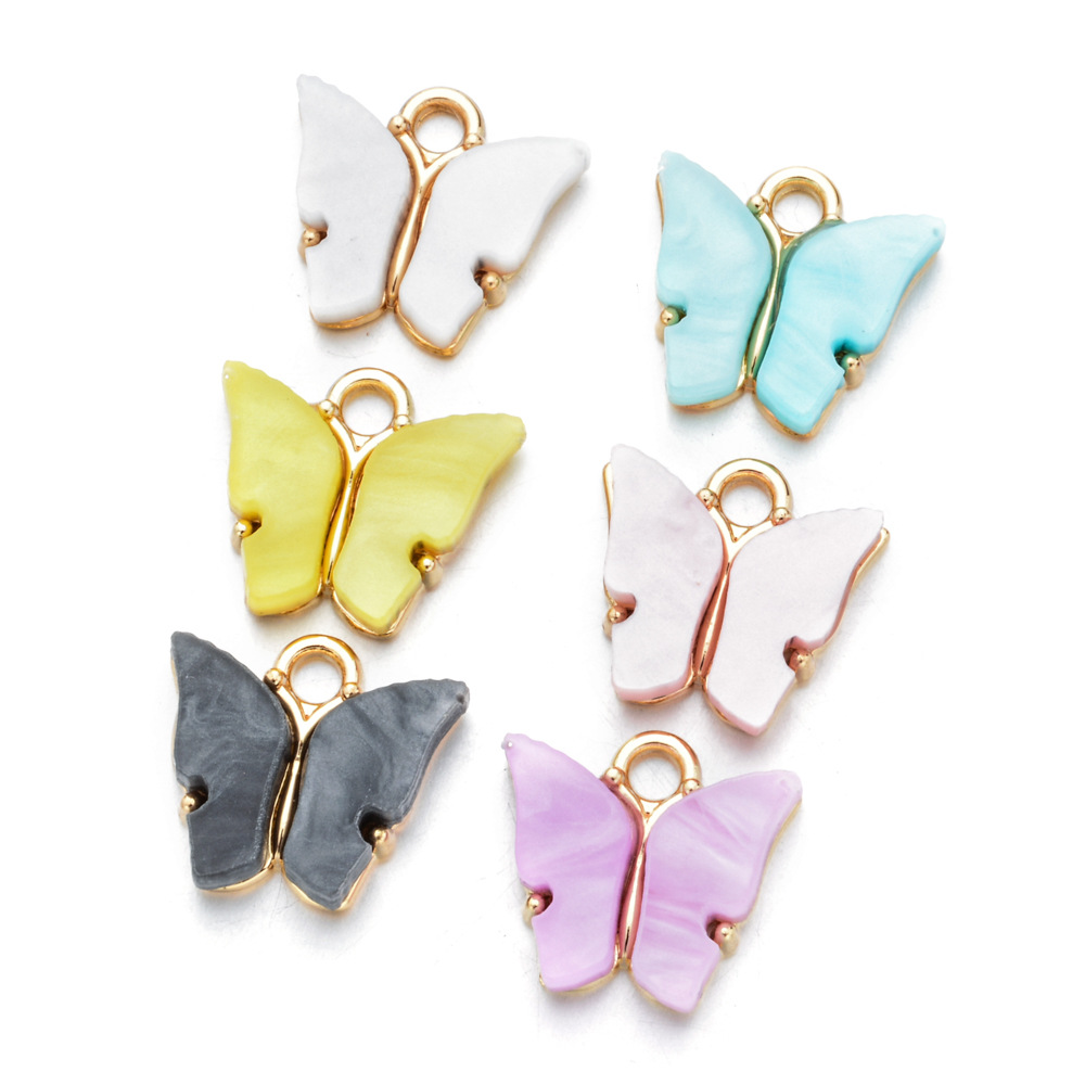 Graceful DIY Butterfly Pendant <strong>Charms</strong> for necklace earrings