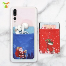 Cheap Gift Adhesive Sticker Elastic Wallet Mobile Card Holder for Cell Phone