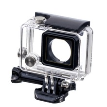AOLI High Quality Waterproof Protective Protection Housing Case for <strong>Gopro</strong> 4 with Screw Camera Mounting Buckle