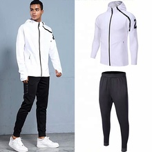 Cheap white hoody jacket men football tracksuit customized logo warm up <strong>sports</strong> <strong>wear</strong>