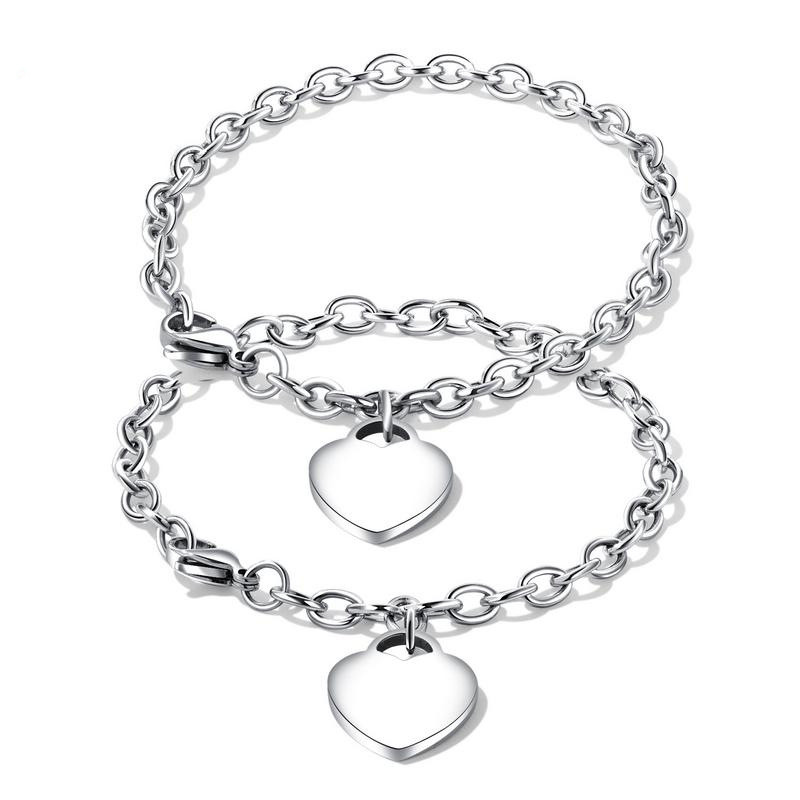 Fashion Design Stainless Steel Couple Bangle Vintage Cross Shaped Chain Link Bracelets For Couple