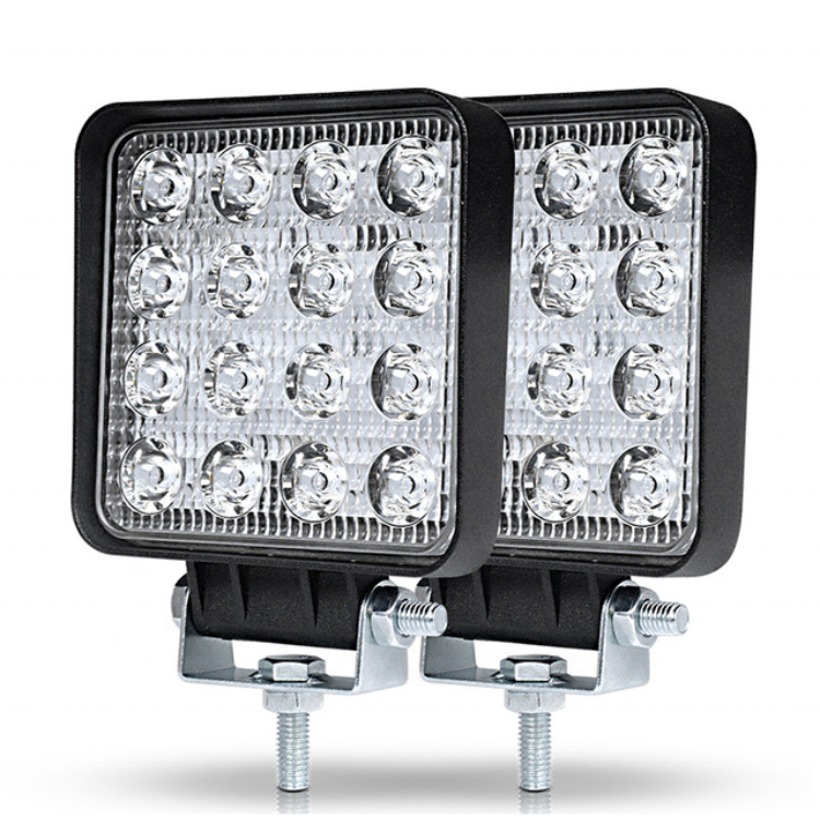 16 <strong>lights</strong> 48W Off road Car 4WD Truck Tractor Boat Trailer 4x4 led work lamp 24V 12V Spot LED <strong>Light</strong> Bar
